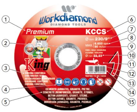 etichetta dischi diamantati