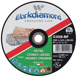 PIE - dischi abrasivi da taglio e da sbavo pietra - Workdiamond